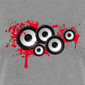 Music in the blood, speakers, sound system, audio T-skjorter - Premium T-skjorte for kvinner