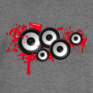 Music in the blood, speakers, sound system, audio Felpe - Felpa con scollo a barca da donna, marca Bella