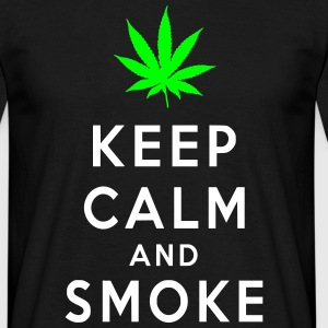 Keep Calm and Smoke Magliette - Maglietta da uomo