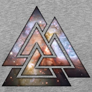 Cosmic Geometric Triangles T-Shirts - Men's Premium T-Shirt