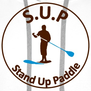 sup - Stand Up Paddle - Sweat-shirt à capuche Premium pour hommes