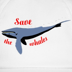 save the whales Caps & Hats - Baseball Cap