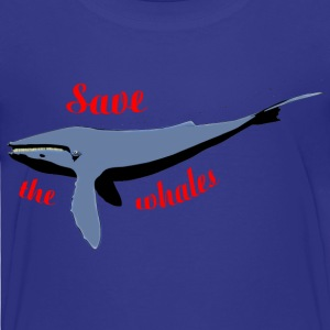 save the whales Shirts - Kids' Premium T-Shirt