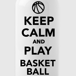 Keep calm and play basketball - Water Bottle