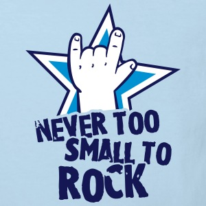 never too small to rock T-shirts - Ekologisk T-shirt barn