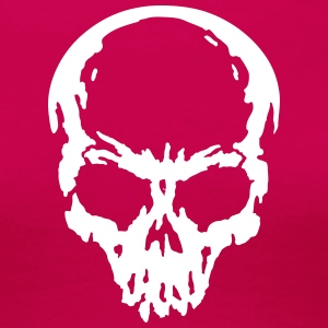 skull Headphone dj music T-shirts - Dame premium T-shirt