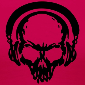 skull Headphone dj music T-Shirts - Frauen Premium T-Shirt