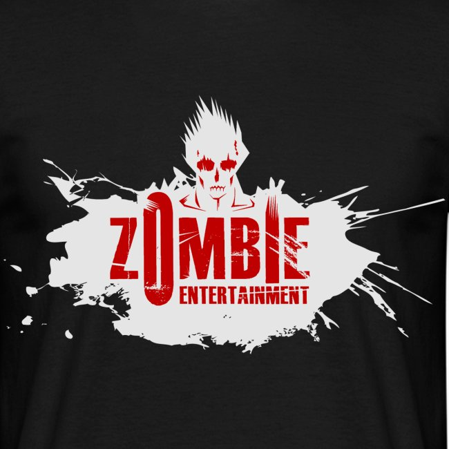 Zombie Entertainment Shirt! (Logo Weiß-Rot)