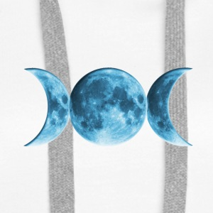 Wicca Blue Moon Hoodies & Sweatshirts - Women's Premium Hoodie