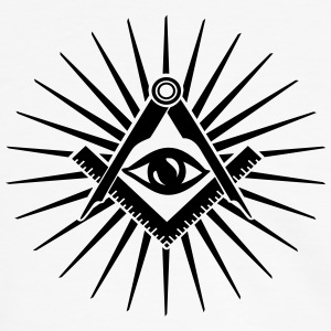 Freemasonry symbol, all seeing eye, freemason,  - Men's Ringer Shirt