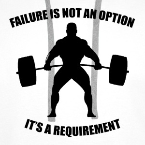 Failure Is Not An Option - Muscle - Men's Premium Hoodie