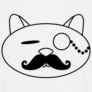 swag cat moustache monokel katze T-Shirts - Men's T-Shirt