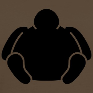 Sitting Fat Man T-shirts - Herre premium T-shirt