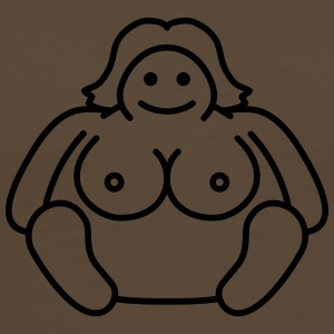 Naked Fat Woman T-shirts - Mannen Premium T-shirt