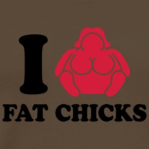 I Love Fat Chicks T-shirts - Herre premium T-shirt