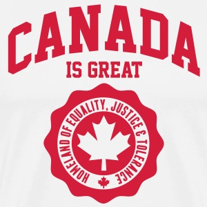 KANADA, CANADA IS GREAT T-Shirts - Männer Premium T-Shirt