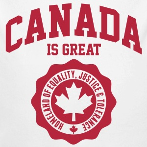 KANADA, CANADA IS GREAT Pullover & Hoodies - Baby Bio-Langarm-Body
