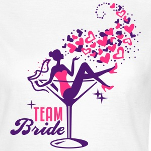 Bride - Braut - Team - JGA - Cocktail - Herz - 2C T-Shirts - Frauen T-Shirt