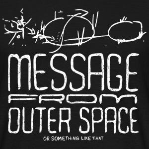 Message From Outer Space (white oldstyle) - Männer T-Shirt