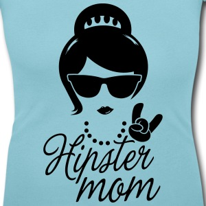 Like a i love hipster mother mom mother's day Tee shirts - T-shirt col rond U Femme