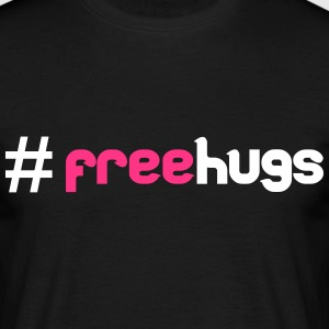#FreeHugs T-shirts - Mannen T-shirt