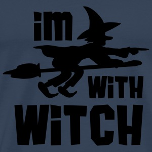 Im With Witch T-shirts - Mannen Premium T-shirt