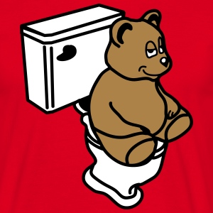 toilet_bear T-skjorter - T-skjorte for menn