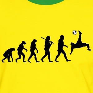 Foorball/Soccer Evolution v2b - Men's Ringer Shirt