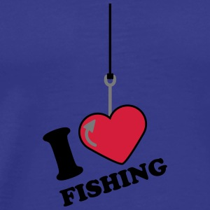 I Love Fishing T-shirts - Mannen Premium T-shirt