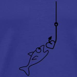 Fishing With Heart Tee shirts - T-shirt Premium Homme