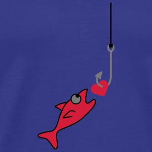 Fishing With Heart T-shirts - Mannen Premium T-shirt