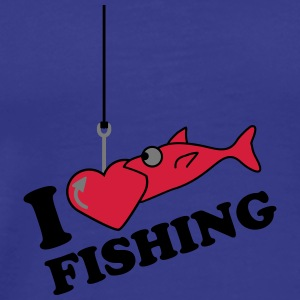 Fishing Love T-shirts - Mannen Premium T-shirt