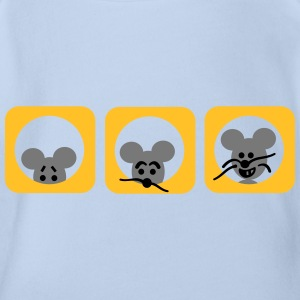 Mouse Shirts - Organic Short-sleeved Baby Bodysuit
