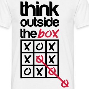 Think outside the box T-skjorter - T-skjorte for menn