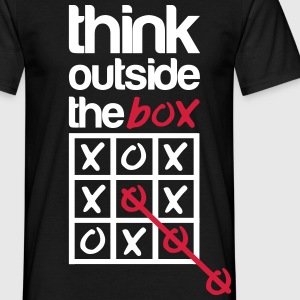 Think outside the box T-shirts - Herre-T-shirt