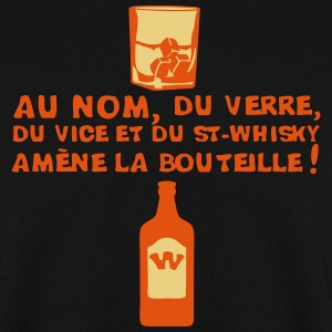 nom verre vice whisky amene bouteille 1 Sweat-shirts - Sweat-shirt Homme