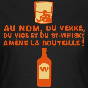 nom verre vice whisky amene bouteille 1 Tee shirts - T-shirt Femme