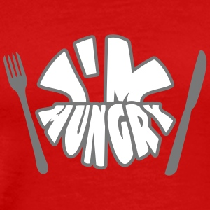 Im Hungry T-shirts - Herre premium T-shirt
