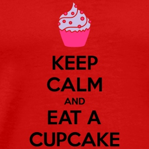 Keep Calm And Eat A Cupcake T-shirts - Herre premium T-shirt