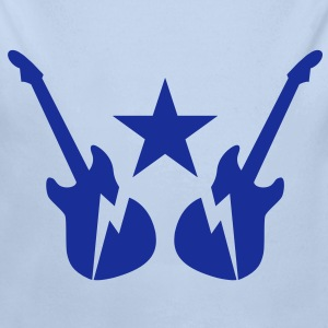electric rock guitars emblem with a star Hoodies - Longlseeve Baby Bodysuit