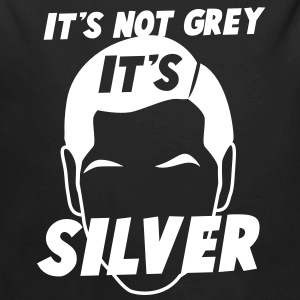 IT's not GREY it's SILVER Fox male man dad Hoodies - Longlseeve Baby Bodysuit