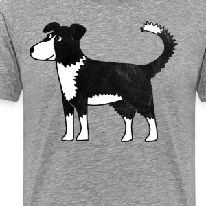 Border Collie Dog T-Shirts - Men's Premium T-Shirt