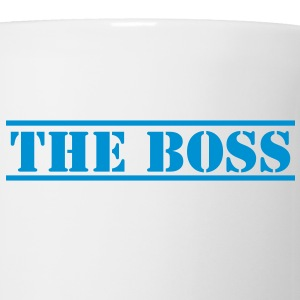 THE BOSS in stencil Bottles & Mugs - Mug