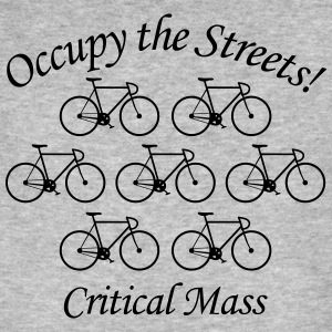 Critical Mass: Occupy the Streets! T-Shirts - Männer Bio-T-Shirt