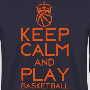 keep calm play basketball couronne ballo Sweat-shirts - Sweat-shirt Homme
