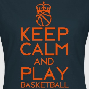 keep calm play basketball couronne ballo Tee shirts - T-shirt Femme