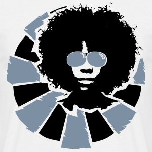 Afro hairstyle with sunglasses  T-Shirts - Men's T-Shirt