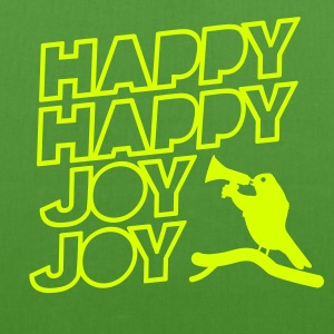 bird scream and shout: Happy Happy Joy Joy Bags  - EarthPositive Tote Bag