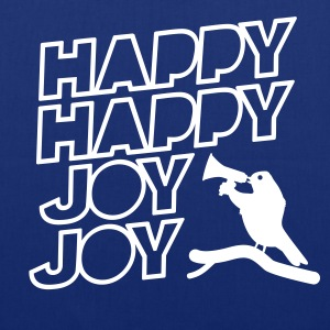 Shopping Tasche zum Muttertag Happy Happy Joy Joy - Stoffbeutel
