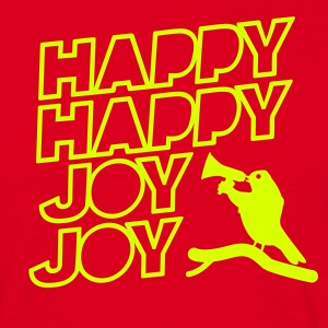 T-Shirt Crazy Bird Happy Happy Joy Joy - Männer T-Shirt